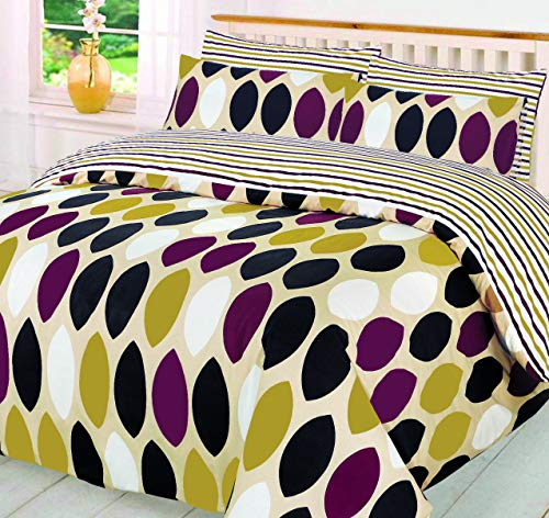 Imperial Linen 48-52% Polyester Printed Duvet Quilt Cover Bedding Set Single Double King S/King (Polka Dot, Supper King)