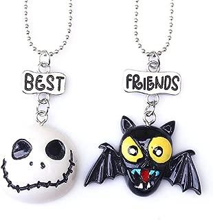 CHOA 2 Packs Halloween Necklace,Skull Halloween Costume Jewelry Set