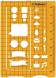 ロルバーン テンプレート【クリアオレンジ】 500607-744