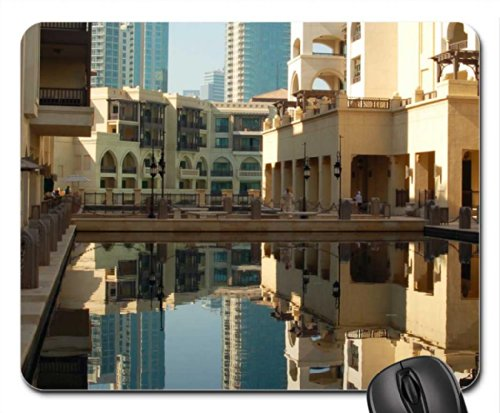 reflection pool in dubai hotel Mouse Pad/Mouse Mat, Mousepad Modern Mouse Pad/Mouse Mat