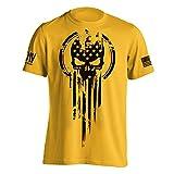 American Warrior Flag Skull Military T-Shirt Small Daisy
