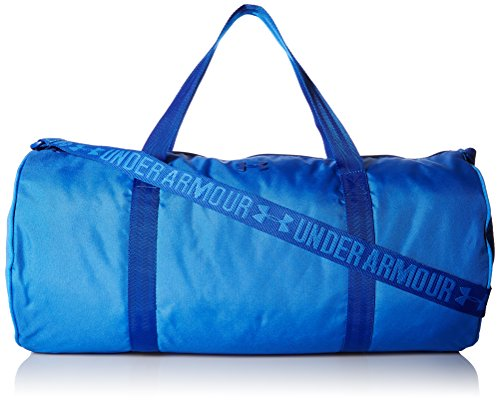 Under Armour UA Favorite Barrel Duffel Bolso maletín, Mujer, Azul (Mediterranean), 21x27x49 cm (W x H x L)