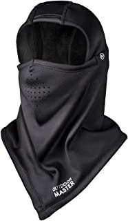 OutdoorMaster Ski Mask - Balaclava Face Mask for Skiing & Snowboarding, Windproof & Water Resistant with Thermal Fleece - for Men, Women and Youth