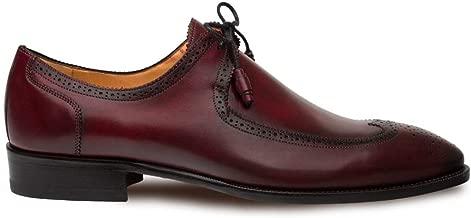 Mezlan Novo Mens Luxury Dress Shoes - Italian Calfskin with Leather Sole - Handcrafted in Spain - Medium Width