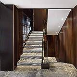 Calcomanía decorativa para escalera, impermeable, autoadhesiva, geométrica, diseño de cubos apilados, color gris