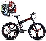Bicicleta plegable de 26 pulgadas, bicicleta de montaña de 21 velocidades, coche adulto, estudiante, coche plegable, hombres y mujeres, velocidad plegable, bicicleta, amortiguación, bicicleta /