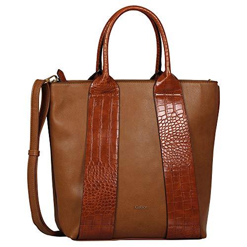 Gabor Damen Runa Tote Bag L no Zip, Croco Cognac, L