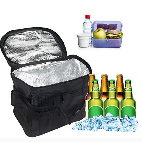 KINRIKA Eistasche Picknicktasche,10L Cooler Bag Lunchtasche,kühltasche faltbar Orlegol klein, Thermo Tasche,kühltasche für Outdoor Reisen,Büro, Grillfeste, Camping, Beach, Auto
