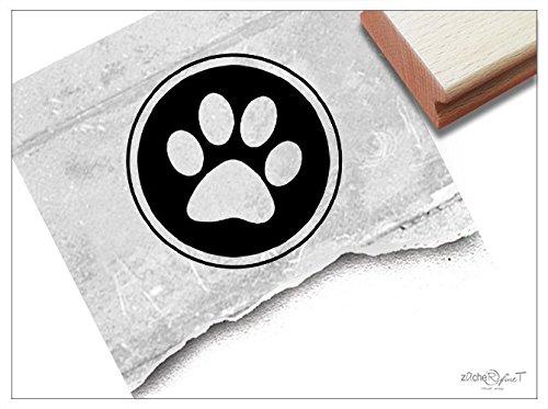 Stempel - Siegelstempel Pfote Tatze als Poststempel - Wachsstempel Bildstempel Geschenk für Kinder, Karten Servietten Basteln Deko - zAcheR-fineT