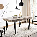 Safavieh Home Alyssa Rustic Industrial Brown and Black Dining Table
