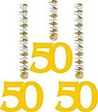 UDO Schmidt GmbH & Co Goldene Hochzeit Hänge-Spiralen Party-Deko Jubil