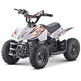 Superrio Kids ATV Titan 40cc Gas Powered Kids 4 Wheelers Kids Quads, Speed Limiter and Kill Switch (White & Orange)