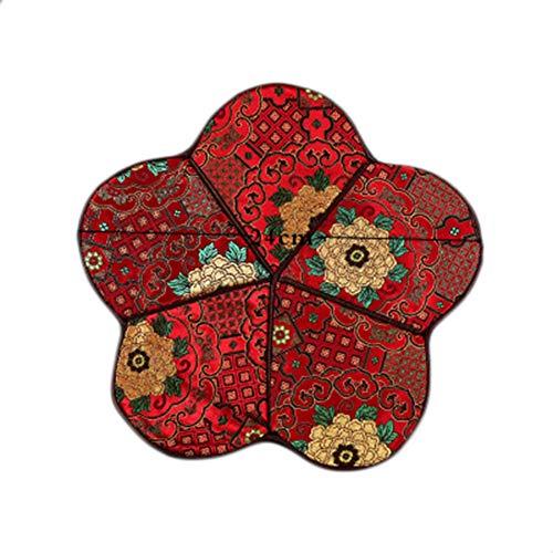 Goddness Bar Tapis de Plateau de thé en Tissu décoratif Coaster Retro Pad Tapis (Style 16)