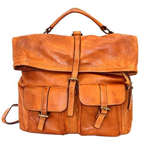 BZNA Bag Yago cognac Backpacker Designer Rucksack Damenhandtasche Schultertasche Leder Nappa Italy Neu
