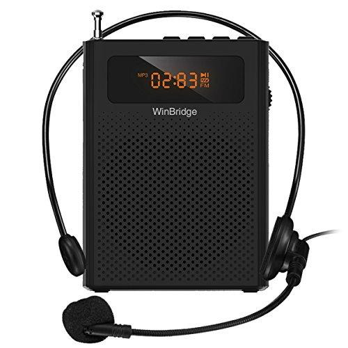 WinBridge Voice Amplifier Portable Microphone and Speaker Personal Amplifier Microphone Clip On for Teachers Classroom Elderly 10W Loud Good Sound