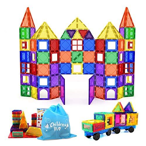 ChildreN HUB 100pcs Magnetic Building Set - Construction Kit Educational STEM Toys For Your Kids (Stronger Magnets)