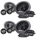 (2) Pairs MB QUART FSB216 6.5' 280 Watt Car Audio Component Speakers