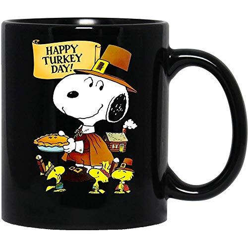 N\A Feliz día del Pavo, Perro Snoopy, Lindo Cachorro, película, Programa de televisión, Cine, Charlie-Brown, Divertida Taza de café para Mujeres y Hombres, Tazas de té