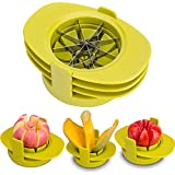 SameTech Easy Kitchen Tool 4-in-1 Fruit Mango Peeler Splitter Pitter Remover Apple Pear Corer Cutter...