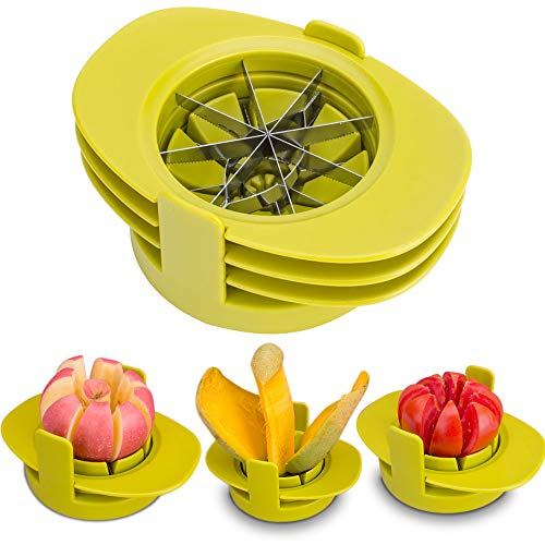 SameTech Easy Kitchen Tool 4-in-1 Fruit Mango Peeler Splitter Pitter Remover Apple Pear Corer Cutter Tomato slicer