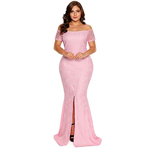 Plus Size Pink Party Dresses: Amazon.com