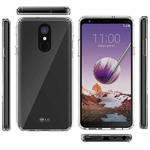 Jeylly LG Stylo 4 Phone Case, LG Stylo 4 Plus Case, LG Q Stylus Case, Transparent Clear Heavy Duty Full Body Shockproof Hybrid Hard PC Soft TPU Scratch Resistance Protective Phone Cover, Clear