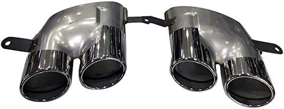 Super-ZS Stainless Steel Exhaust Tail Pipe Muffler, Car Exhaust Pipe Modification Double Out Round Tail Throat (Suitable for 2016-2018 Audi A7 Modified S7/A6 Modified S6)
