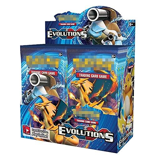 KENANLAN Pokemon Box, Pokemon Karten, Pokemon Booster Boxen, Pokemon Karten Booster Packs, Pokemon Karten Pack, Seltene Karten Sammlung Geschenk für Kinder Anime Fans -360Pcs.