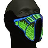 Ucult LED-Rave-Maske Soundaktiviert Leuchtmaske - Maske für Party, Halloween Fasching Karneval...