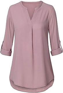 ad690c702 Amazon.es: tallas grandes mujer - XL / Camisetas de manga larga ...