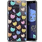 Samsung Galaxy A6 Plus Case, Ultra Slim Sleeping Cat Design