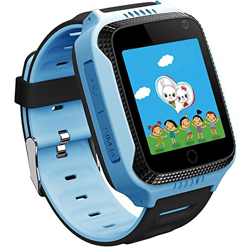TrailO ™ iSecureRelyCam - Kids GPS Tracker SOS Smart Touch Screen Watch   Camera   Call Function, Remote Monitoring   2G SIM Compatible   Kids Safety (Blue)