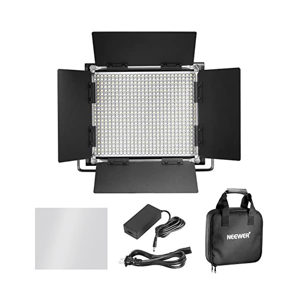 Neewer 2-Pack Dimmable Bi-Color 660 LED Video Light and Stand Lighting Kit with Large Carrying Bag for Photo Studio…