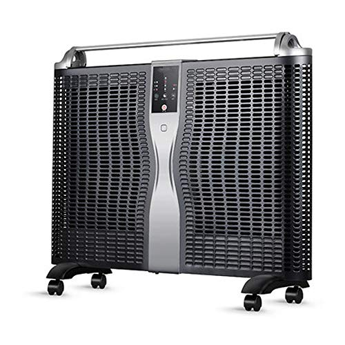 Lowest Price! JLL Electric Heater 1500W, ETL & CA Prop 65 Certified Flat-Panel Heater with Adjustable Thermostat, Quiet for Home and Office (Black)