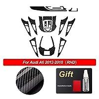 Associated Press Audi A6 C7 4G 2012-2018アクセサリーのための抗スクラッチカーの内部トリムコンソールの保護フィルム5Dの炭素繊維のビニールのステッカーフィット (Color Name : Right hand drive2)