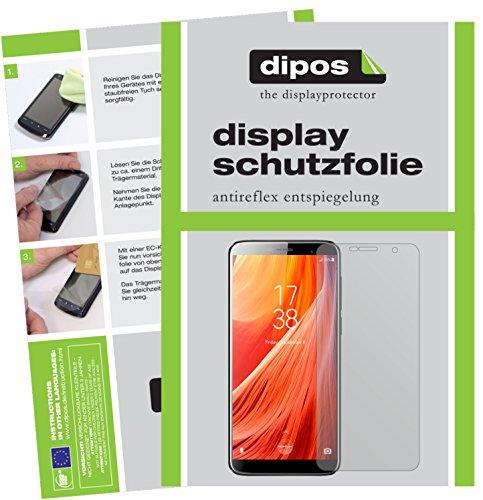 dipos I 2X Schutzfolie matt kompatibel mit HOMTOM S7 Folie Bildschirmschutzfolie