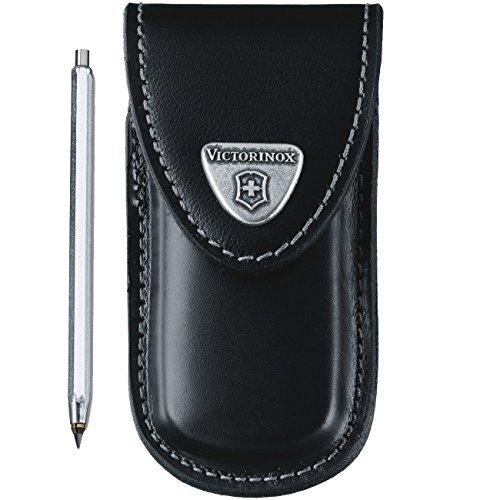 Victorinox Zubehör Lederetui Golf Tool mit Metallklammer Mantel, schwarz, One Size