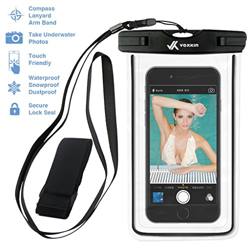 ⚡ [ PREMIUM QUALITY ] Universal Waterproof Phone Holder with ARM BAND & LANYARD - Best Grade Water Proof, Dustproof, Snowproof & Shockproof Pouch Bag Case for Apple iPhone, Android and All SmartPhone