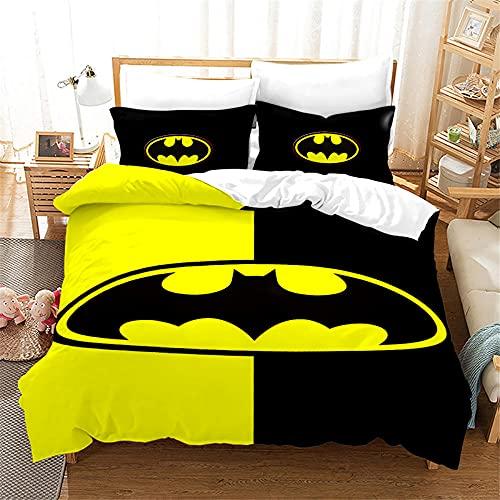 Funda Nordica Batman Super Hero Avengers 220 X 240 Cm Juego De Sabanas 220X240 3 Piezas Juego De Cama 3 Piezas Microfibra Suave con 2 Piezas Funda De Almohada