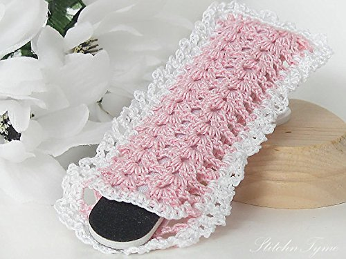 Salon Style Lace Nail File Pouch by StitchnTyme (Pink)