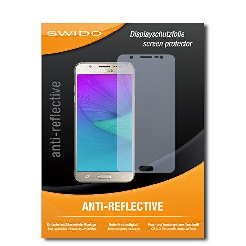 SWIDO Schutzfolie für Samsung Galaxy J5 (2016) [2 Stück] Anti-Reflex MATT Entspiegelnd, Hoher Festigkeitgrad, Schutz vor Kratzer/Bildschirmschutz, Bildschirmschutzfolie, Panzerglas-Folie