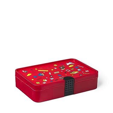 Room Copenhagen, Lego Sorting Box - Brick Storage with Organizing Dividers - Iconic Red (40840001)