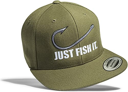 Gorra de béisbol: Fish it - Pescado/Cap/Classic Flexfit Snapback/Basecap/Regalo-s Pescador/Gorras de hombre y mujer/Gorro-s Trabajo/Tapa/Pesca