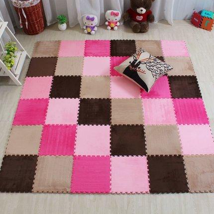BAZAAR 4 pcs Bébé en mousse souple Tapis de sol Flanelle Tapis Puzzles enfants Tapis de gymnastique