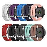 ZSZCXD Compatible for Garmin Vivoactive 4, Silicone Replacement WatchBand Strap Band Wristband for Garmin Vivoactive 4, Small and Large (10 Colors, Small)