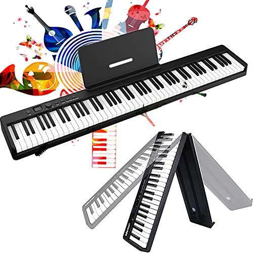 MaSYZBF Piano con Teclado Plegable de 88 Teclas, Piano...