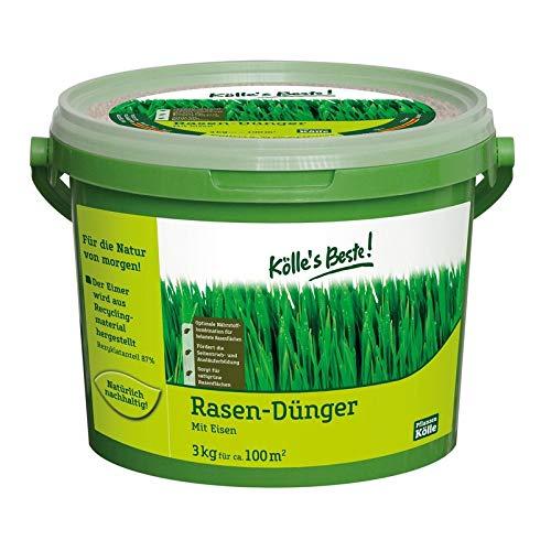 Kölle\'s Beste! Rasendünger mit Eisen für einen prächtig grünen und dichten Rasen, praktisches Granulat, für alle Rasensorten geeignet, zur Düngung vom Frühjahr bis Herbst, 3 kg 3 kg