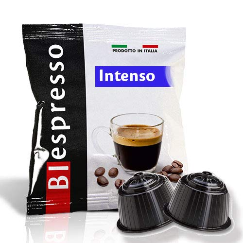 Capsule compatibili Dolce Gusto Nescafè, caffè dall'aroma Intenso, 400 caps + 50 in omaggio, marchio Biespresso, Produzione italiana
