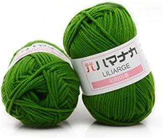 4株コーマミルク綿糸ウール混紡糸アパレル縫製糸 (PandaWelly)