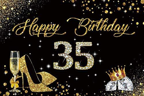 Toile de Fond d'anniversaire Joyeux 50e 40 30 25 18 fête d'anniversaire Or à Pois Affiche Photo Fond Photocall Photo Studio A23 2.1x1.5 m